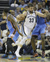 NBA playoffs: Grizzlies 87, Thunder 81: Grizzlies grit, grind OKC