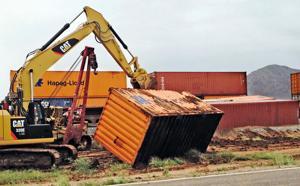 Photos: Train derailment near Picacho