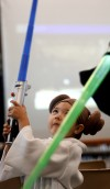 'Star Wars' warriors descend on library