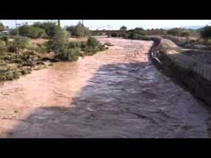 Santa Cruz River flows through Congress Street Bridge