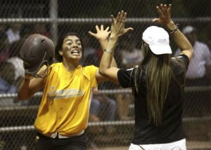 Division II STate Softball: Salpointe 9, Ironwood ridge 5: Lancers have smell of success despite unwashed uniforms