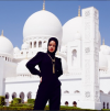 Rihanna at Abu Dhabi's Grand Mosque