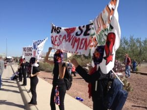 Activists block Tucson courthouse, immigration hearings canceled for the day
