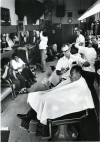 Johnny Gibson in his barbershop