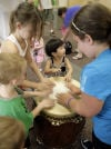 Taiko drummers bring the beat to OV library