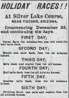 Ad for Silver Lake Course