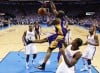 NBA playoffs: Thunder 106, Lakers 90: Thunder set for Spurs in return to West final