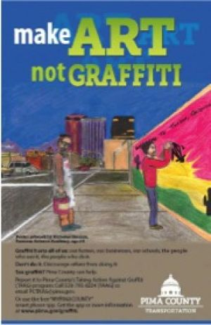 Tucson student awarded prize for anti-graffiti poster