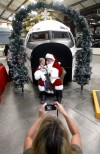 Santa lands at Pima air museum