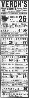 Retro grocery ads in Tucson