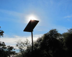 Solar panels bring sun's power to campgrounds
