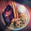 Hawaiian food truck food