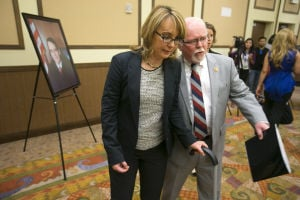 Photos: Giffords and Barber attend Yuma's John M. Roll U.S. Courthouse dedication