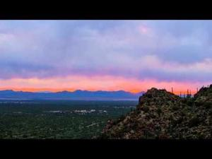 Gates Pass sunset time-lapse in 9 seconds
