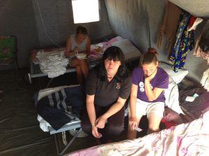 Ukrainian refugees flood into Russia