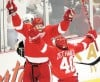 Red Wings win first on 'fortunate breaks'
