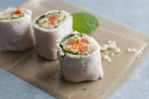 Rethinking sushi rolls for a filling packed lunch