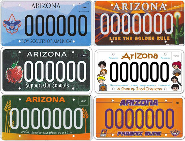 Arizona 39 s license plate overload appears to be growing for Arizona motor vehicle division tucson az 85713