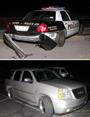 Woman driving drunk hits patrol car, police say
