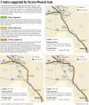 3 alternative routes remain for proposed Tucson-Phoenix commuter rail line