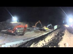 Overnight demolition leads to entertaining video