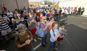 Hundreds in Tucson protest religious rights bill targeting gays