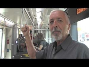 Tom Beal rides the streetcar