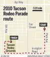 2010 Tucson rodeo parade route