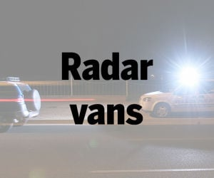Saturday police radar vans.