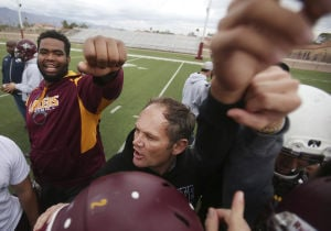 Photos: Salpointe coach Dennis Bene focused on making sure there's no hesitation in semifinal
