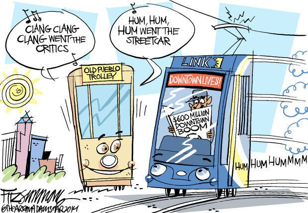 Daily Fitz Cartoon: Streetcar