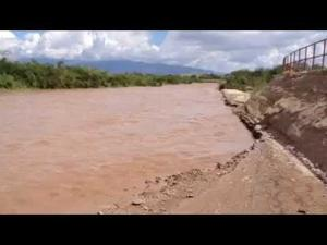 Rillito flowing on Friday in wake of Odile rain