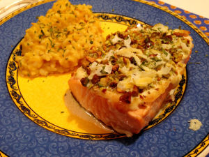 One Good Recipe: Pistachio-Crusted Salmon with Lemon Cream Sauce
