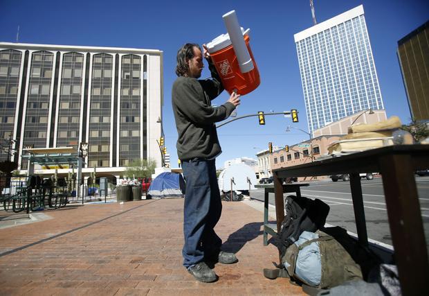 Photos: Downtown Homeless Camp