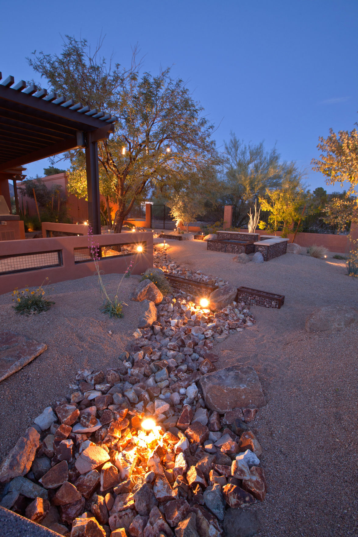How do i clean dirty river rocks in a water feature for Landscaping rocks tucson