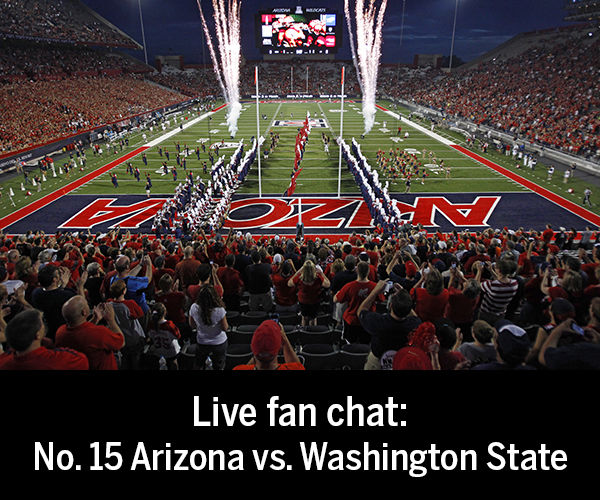 Live fan chat during the Arizona vs. Washington State football game