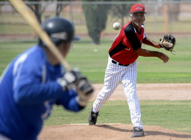 Mound magician: Juanito, 67, can still bring it