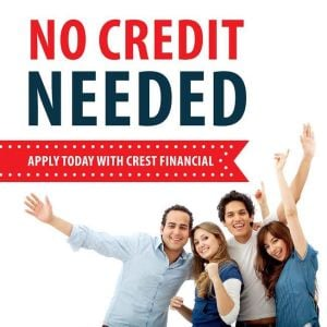 NO Credit Needed when you apply with Crest Financial - Click for additional deals as well! 520-887-7535