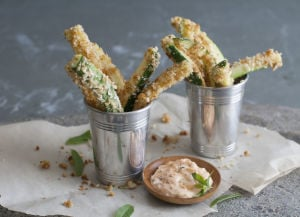 Turning your zucchini abundance into no-fry fries