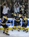 NHL Playoffs Bruins take command in OT