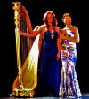 Flutist Christine Harper and harpist Christine Vivona
