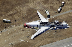 Photos: Airliner crashes in San Francisco