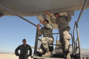 Airmen blog:  3 D-M airmen respond first to desert wreck