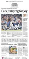 Arizona Wildcats win The Sports front from the June 26, 2012 Arizona Daily Star