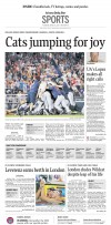 Arizona Wildcats win: The Sports front from the June 26, 2012 Arizona Daily Star