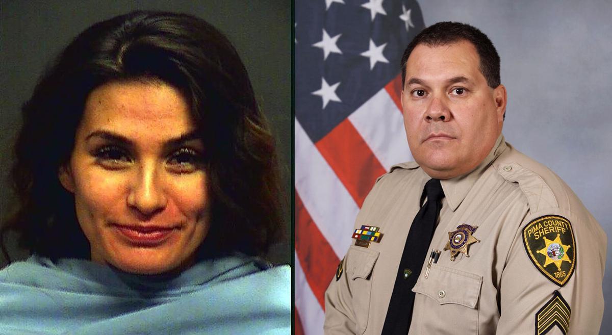 Yesenia Gonzalez and Sgt. Mark Bustamante