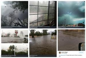 Flooding and rain in Tucson captured on social