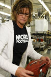 Making Super Bowl footballs