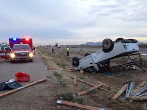 3 men injured in morning crash on Tucson interstate