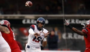 UA football: Scroggins fills admirably at QB
